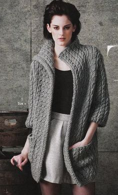 Vogue Knitting ~ pattern by Lutz and Patmos in Tahki's wool yarn, Montana (discontinued bulky)