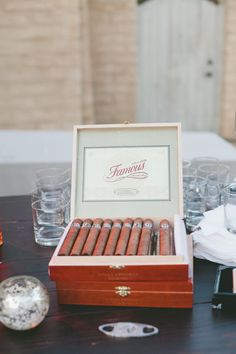#cigars Photography by onelove-photo.com Design and Coordination by joydevivre.net  Read more - http://www.stylemepretty.com/2013/07/19/santa-barbara-wedding-from-joy-de-vivre/