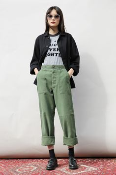 Vintage Military Chinos - Utility Wear - Women | Mint Vintage