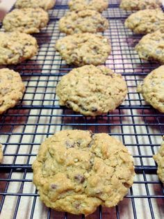 Oatmeal Chocolate Chip Cookies recipe that is egg and dairy free.