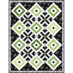 NEW! Greenery - Quilt Kit - Maywood Studio - #supplies @EtsyMktgTool #maywoodstudio #fabric #new #blender #strips #green #grey #paisley