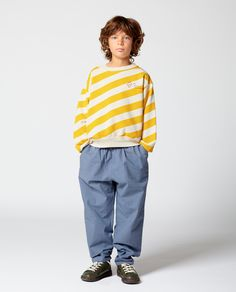 The Animals Observatory Striped Bear Sweatshirt-product Toddler Fashion, Boy Fashion, Boys Wear, Kids Branding, Kids Prints, Kid Styles, Boys Shirts, Kind Mode, Baby Wearing
