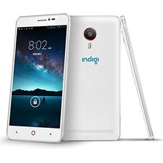Indigi 55 Fastest Dual Core Unlocked Android 44 Smartphones 3G GPS DualSIM DualStandby WiFi Bluetooth Motion Gesture White * You can get additional details at the image link.