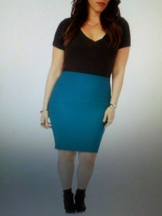 2 NEW FOREVER21 PLUS EMERALD & BURGANDY PENCIL SKIRT SIZE 3X