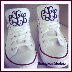 Step into Spring with monogrammed Converse at Monogram Markets