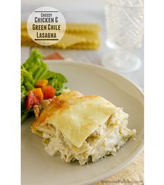 Cheesy Chicken and Green Chile Lasagna...I LOVE LOVE LOVE this recipe! Will definately be making this again and again and again! Sooooooooo good!