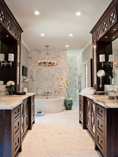 Would you want this lovely master bathroom in your home?
