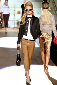 Dsquared2 Fall 2012 Ready-to-Wear Fashion Show - Hanne Gaby Odiele