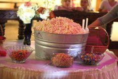 Rustic Wedding Popcorn Bar
