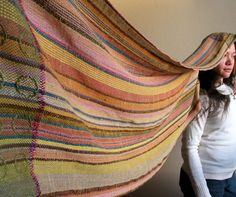 Handwoven Shawl  Natural Dyes  Autumn Leaves  Soft and by Mireloom, €125.00--- Wow, this is outstanding!!!