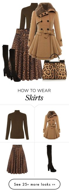 """Untitled #437"" by sanetdelport on Polyvore featuring People Tree, Dolce&Gabbana and Stuart Weitzman"