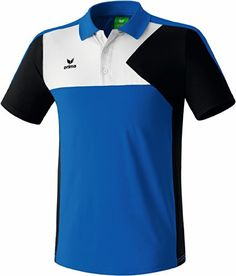 erima Kinder Premium One Poloshirt, New Royal Schwarz Weiß, 152, 111421