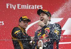 Sebastian Vettel and Kimi Räikkönen