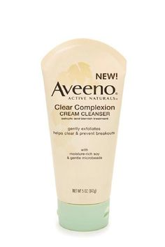 "The BEST Beauty Products Under $25  #refinery29  http://www.refinery29.com/cheap-summer-beauty-products#slide-37  Cleanser""I have a soft spot for Aveeno products because they're so great for sensitive skin. This product in particular is great for acne-prone skin that tends to veer on the dry side. It leaves the skin feeling refreshed and clean, but because of its awesome cream formula, your skin won't feel the slightest bit dry."" — Mi-Anne Chan"