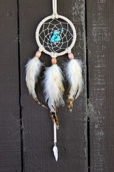 TURQUOISE Dreamcatcher Necklace, Bohemian,Tribal, Spiritual, Nature Inspired on Etsy, $45.00