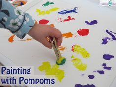 Letter P Activity – Painting with Pompoms. Herve Tullet press here
