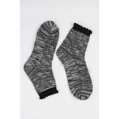 Black & White Ankle Socks These beautiful Black & White Ankle Socks are topped with a black trim.  Fits sizes 4-9. Fabric is 80% cotton, 20% Nylon. New, never worn. Same or next day shipping. ✈️ Aspen Rise Accessories Hosiery & Socks