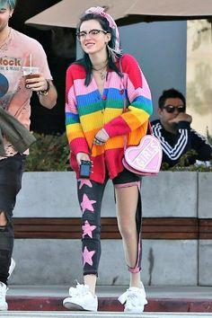 Bella Thorne wearing Puma Basket Heart Patent Sneakers and Skinnydip Girls Cross Body Bag
