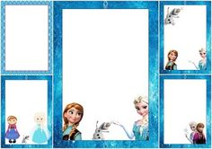 Frozen Free Printable Frames, Invitations or Cards.