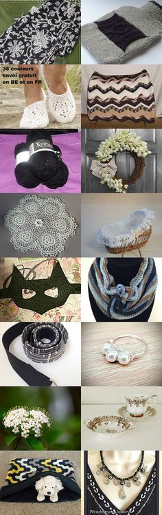 Black and White Finds from TMP by Cynthia Newsome on Etsy--Pinned+with+TreasuryPin.com