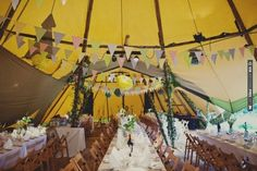 this reception in a tepee is positively dreamy! // photo by Joanna Brown | VIA #WEDDINGPINS.NET
