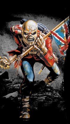 as the álbum hail to england of manowar, but iron maiden was first with the track called the trooper Iron Maiden Album Covers, Iron Maiden Albums, Iron Maiden Band, Eddie Iron Maiden, Arte Heavy Metal, Heavy Metal Music, Hard Rock, Heavy Metal Rock, Heavy Metal Bands