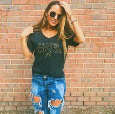 AOPi Galaxy Tee   Bid Day Ideas   Recruitment Shirts   Sorority Apparel   Out of This World