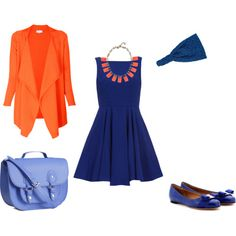 How to match orange and blue