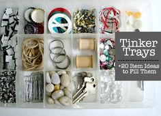 The Educator's Companion: Tinker Trays + 20 Item Ideas to Fill Them With