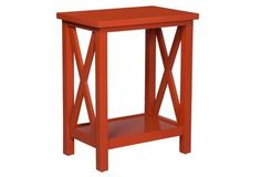 Axel Side Table, Tangerine