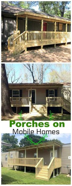 We love how a porch adds instant curb appeal to a modular or manufactured home. And the extra comfort and livability too. Perfect!