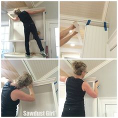How to Install Crown Molding on Kitchen Cabinets – Sawdust Girl® - Enterprise. Crown Moulding Kitchen Cabinets, Installing Kitchen Cabinets, Above Cabinets, Diy Kitchen Cabinets, Cabinet Moulding, Ikea Cupboards, Crown Molding In Bathroom, Building Cabinets, Kitchen Remodeling