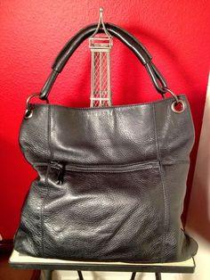 Bottega Veneta Black Shoulder Hobo Tote Bag Gunmetal Hardware $600 Retail - $239 Ebay Sold