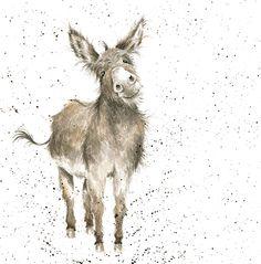 Wrendale Designs Country Set Greeting Card NEW Donkey Gentle Jack Animal Paintings, Animal Drawings, Art Drawings, Watercolor Animals, Watercolor Paintings, Watercolour, Illustrations, Illustration Art, Wrendale Designs