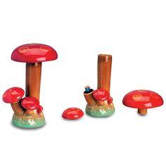 Magic Mushroom Ceramic Stealth Water Pipe - 22cm - Ceramic Bongs - Bongs and Waterpipes - Smoking Pipes - Grasscity.com