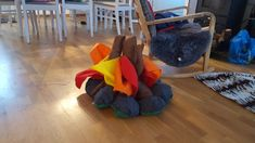 Stuffed bonfire for indoor camping!