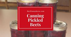 Canning Pickled Beets is easier than you might think. Just cook 'em, peel 'em and process them in a water bath canner! Quick, easy and delicious! Canned Pickled Beets, Just Cooking, Raw Food Recipes, Preserves, Pickles, Snacks, Canning, Facebook, Vinegar Salt