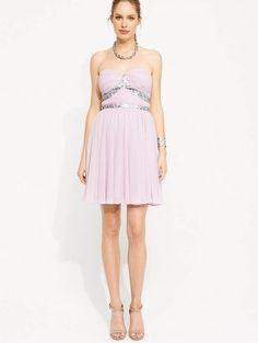 Portmans Miska Strapless Embellished lilac/pink Dress