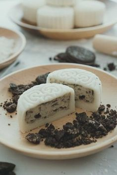 Learn what are Chinese Food Treat Baking Recipes, Cake Recipes, Dessert Recipes, Chinese Moon Cake, Asian Desserts, Chinese Desserts, Chocolate Filling, Chocolate Cookies, Gastronomia