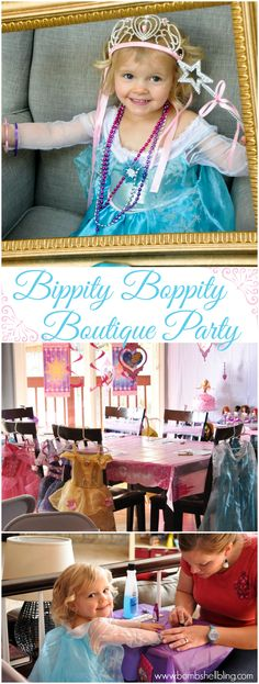 Disney Princess Bippity Boppity Boutique Party. This is seriously the cutest little girls party perfect for any little princess!