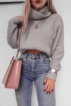 girly outfits – Fall Fashion Outfits and Street Style Casual Look Ideas Of Trend Clothes Cute Fall Outfits, Winter Fashion Outfits, Girly Outfits, Autumn Fashion, Jeans Fashion, Chic Outfits, Spring Outfits, Autumn Outfits, Casual Christmas Outfits