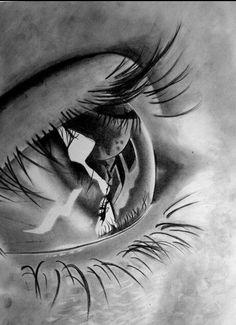 Eye Drawing Pencil Art Photo-Realistic