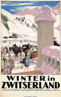 Emil Cardinaux (1877-1936): WINTER IN ZWITSERLAND 1921