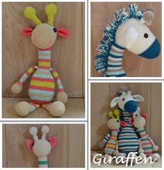 Gehaakte giraffen. Gehaakte knuffels bij OK Kadootjes! Neem een kijkje op www.okkadootjes.webklik.nl.