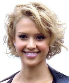 If You Have A Round Face And Curly Hair, Try A Short Bob Hairstyle - Hairstyles for Round Faces