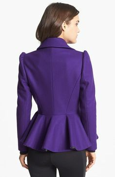 Ted Baker London Short Wool Blend Peplum Coat (Online Only) | Nordstrom