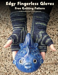 Edgy Fingerless Gloves - free knitting pattern by Knitting and so on