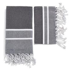 Black Herringbone Stripe Foutas, $20-$75, ABC Home