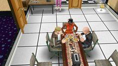 Sims comendo hambugueres...