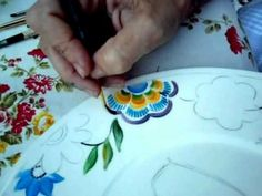 Pintura sobre porcelana - Princess Time - YouTube
